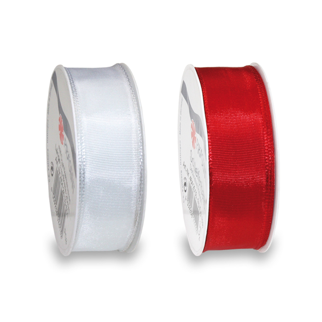 LYON silk ribbon with wired edges 3-m-roll