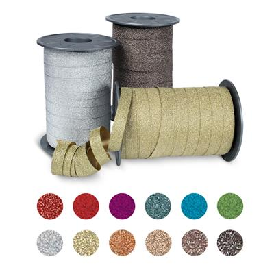 POLY GLITTER Ringelband 100-m-Spule