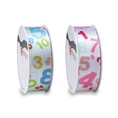 NUMBERS Satinband 3-m-Rolle