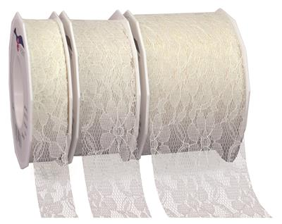 DERBY lace ribbon 25-m-roll
