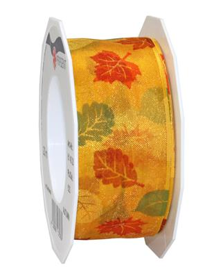 AUTUMN organza 20-m-roll with wired edges
